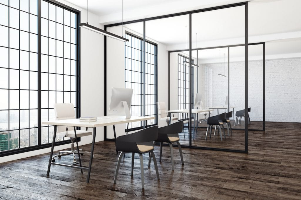 Contemporary Coworking Office Interior
